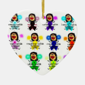 All Cancer Guardian Angels Ceramic Ornament