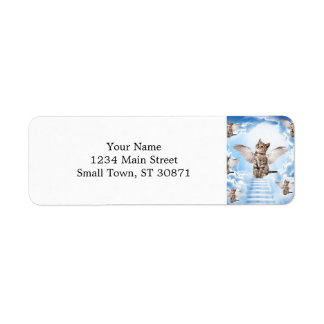 All Cats Go to Heaven Return Address Label