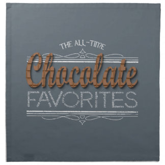 All Chocolate Favorites Napkin