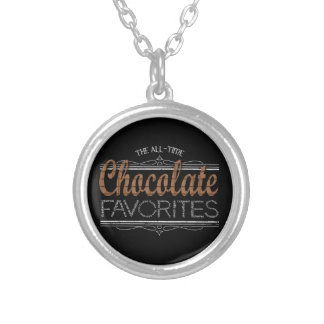 All Chocolate Favorites Silver Plated Necklace