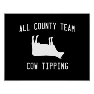 All County Cow Tipping Poster