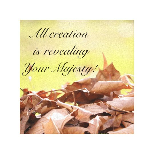All creation in all season canvas print