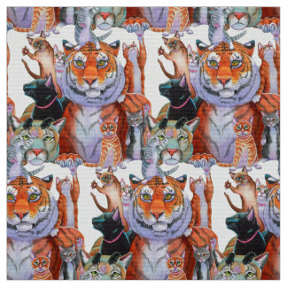 All Creatures Great and Small Cats! Fabric