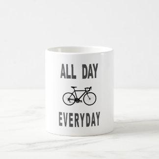 All Day Everyday Bike Classic White Coffee Mug
