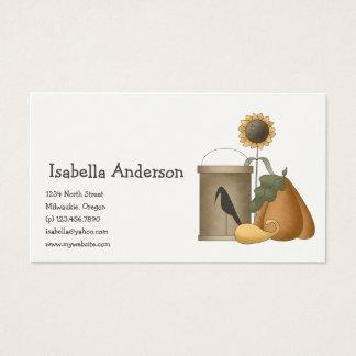 All dem Blessings · Crow, Pumpkins & Sunflowers Business Card
