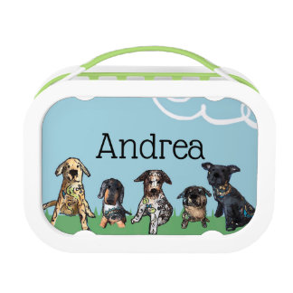 All dogs lunch box