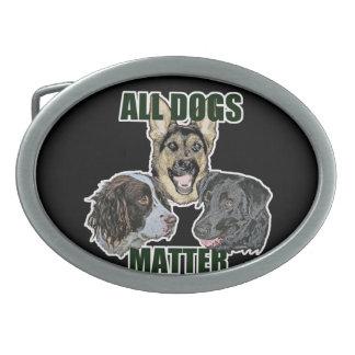 All dogs matter belt buckle