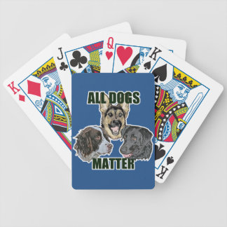 All dogs matter bicycle playing cards