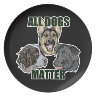 All dogs matter plate