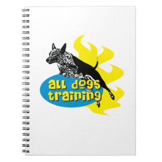All Dogs Training Spiral Notebook