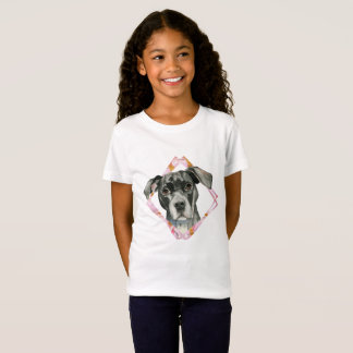 """""""All Ears"""" 2 Pit Bull Dog Watercolor Painting T-Shirt"""