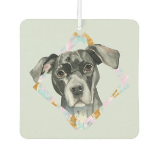 """All Ears"" Pit Bull Dog Watercolor Painting Air Freshener"