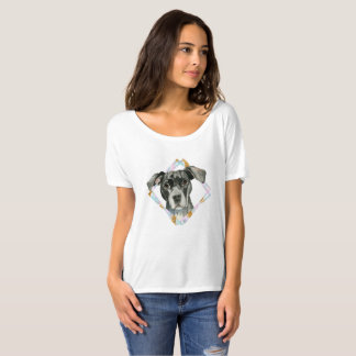 """All Ears"" Pit Bull Dog Watercolor Painting T-Shirt"