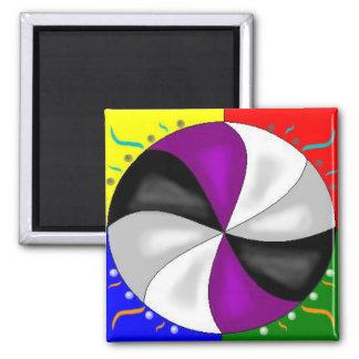 All Elements Mandala Square Magnet
