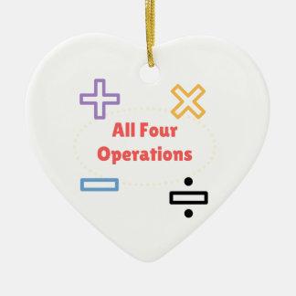 All Four Operations Ceramic Ornament