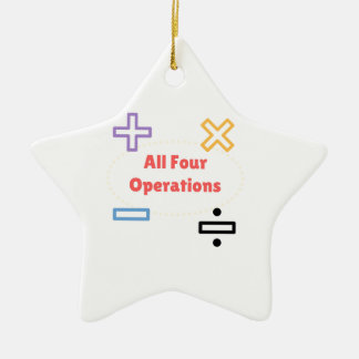 All Four Operations Ceramic Star Ornament
