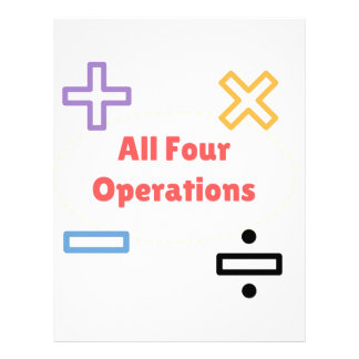 All Four Operations Letterhead