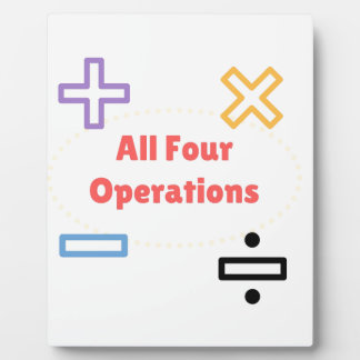 All Four Operations Plaque