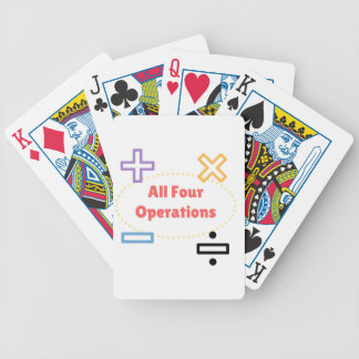 All Four Operations Poker Deck