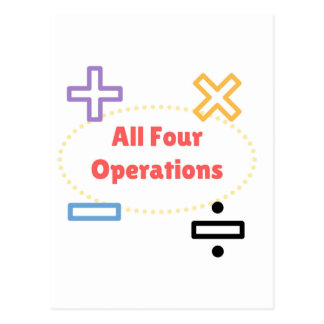 All Four Operations Postcard