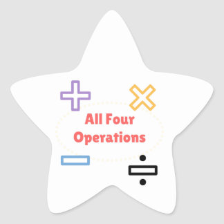 All Four Operations Star Sticker
