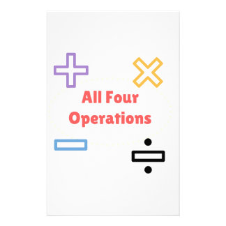 All Four Operations Stationery