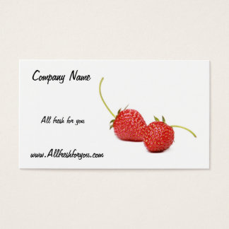 All fresh for you Business Card With Fresh Strawb