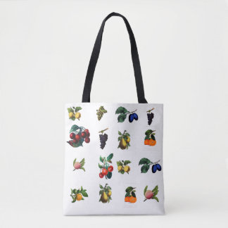 All fruits combination tote bag