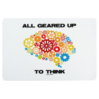 All Geared Up To Think Brain Gears Psyche Engineer Floor Mat