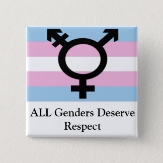 All Genders Deserve Respect 2 Inch Square Button