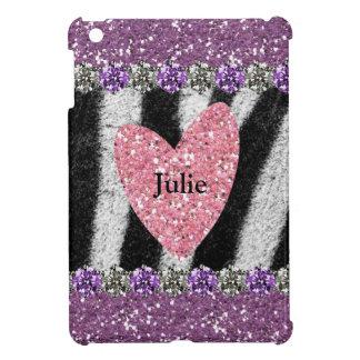 All Girl Pink Purple Zebra Personalized iPad Mini Covers