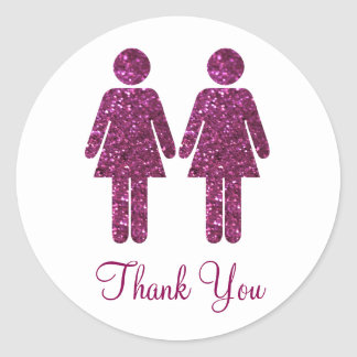All Girls Glitter Round Sticker
