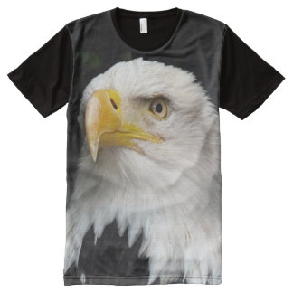 All God's Creatures Bald Eagle Print All-Over-Print T-Shirt