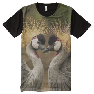 All God's Creatures Grey Crowned Cranes Print All-Over-Print T-Shirt