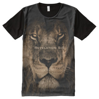 All God's Creatures Lion Print All-Over-Print T-Shirt