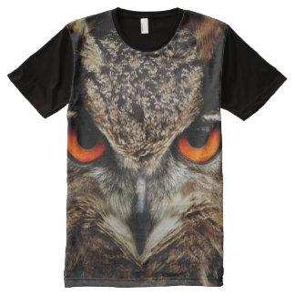 All God's Creatures Owl Print All-Over-Print T-Shirt