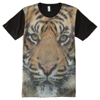 All God's Creatures Tiger Print All-Over-Print T-Shirt