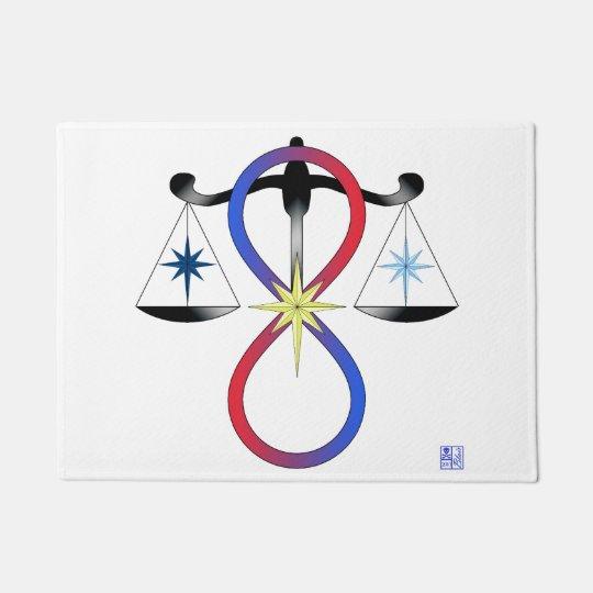 All Gods Universal Power Colour - Religious Symbol Doormat