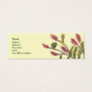 All Good Flowers card. Mini Business Card