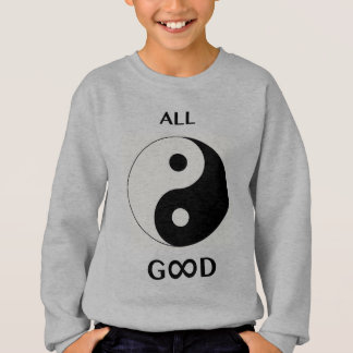 All Good/God (front), paw print emoji-art (back) Sweatshirt
