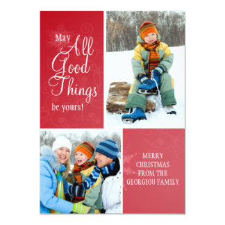 All Good Things Holiday Photo Card