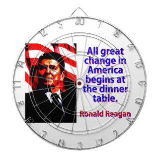 All Great Change In America - Ronald Reagan Dartboard