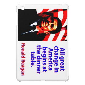 All Great Change In America - Ronald Reagan iPad Mini Case
