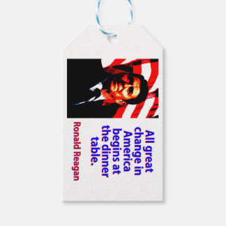 All Great Change In America - Ronald Reagan Pack Of Gift Tags