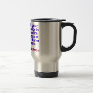 All Great Change In America - Ronald Reagan Travel Mug
