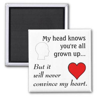 """All Grown Up 2"""" Square Magnet"""