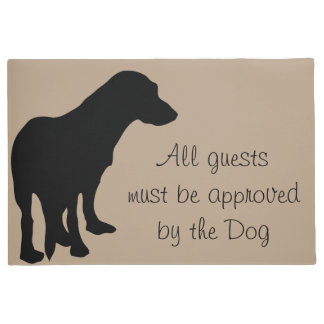 All Guests Must Be Approved By Dog Doormat