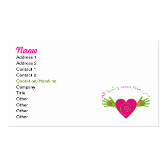 All Healing Comes from Love Business Cards