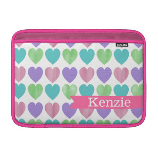 All Hearts Colorful Pink Pattern MacBook Sleeves