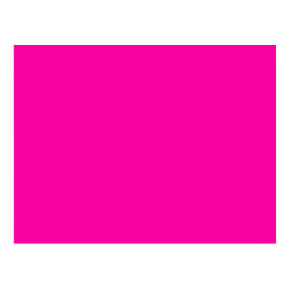 All Hot Pink Nothing But Color Pink Postcard